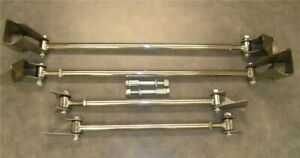 Gearhead 1932 1933 1934 1935 Ford Triangulated 4 Link Kit 32 Stainless Four Bar