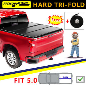 Hard Tri fold Tonneau Cover Top For 19 2020 Jeep Gladiator Sport 5 0ft Truck Bed