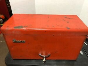 Vintage Snap On Tools Tool Chest Box Cabinet With Key Weighs 70lbs