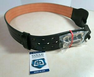 Gould Goodrich Leather Fully Lined Duty Belt 4 Row Stitched Size 32