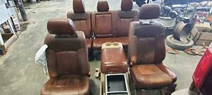 2011 2016 Ford F250 F350 Super Duty Seat Set W Bag King Ranch Leather