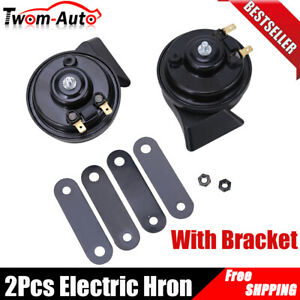 2pcs 12v Loud Car Truck Auto Dual Tone Snail Electric Horn Universal Waterproof