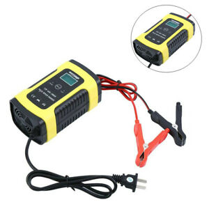 12v 6a Lcd Pulse Repair Battery Charger For Motorcycle Car Agm Gel Wet Lead Acid
