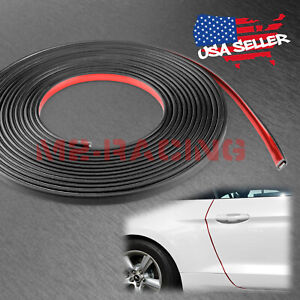 Red Car Door Edge Guard Trim Molding Rubber Seal Strip Scratch Protector Cover