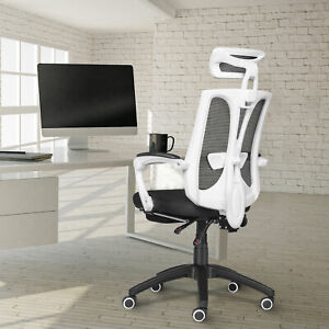 Office Gaming Computer Chair High Back Task Seat Adjustable Recliner W footrest