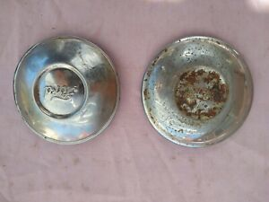 vintage Pair Of Model A Ford Wire Wheel Center Hub Caps