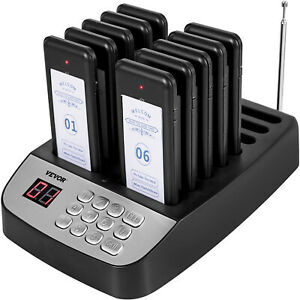 Vevor F100 Restaurant Pagers 10 Coasters Paging System Wireless For Restaurants
