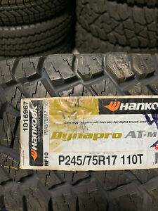 2 New P 245 75 17 Hankook Dynapro At m Tires