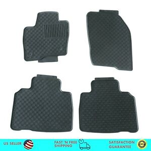 Floor Mats For 2015 2020 Ford Edge All Weather Rubber Floor Mats
