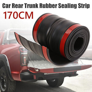 Rubber Truck Bed Tailgate Gap Cover Filler Seal Shield Lip Cap For Toyota Nissan