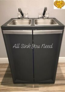 Portable Sink Double Handwash With Hot Cold Water Self Contained Two Two