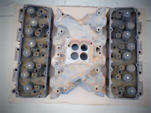 Set Of 1970 351c 4v Closed Chamber Cylinder Heads D0ae N With Intake Doae 9425 L