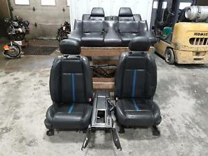 2010 2012 Ford Mustang Seat Set Cpe Leather Electric W heat W bag