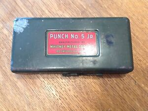 Vintage Whitney Metal Tool No 5 Jr Metal Punch Kit With Case And Punches