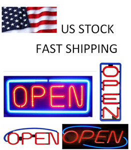 Large Bright Led Neon Light Animated Motion Open Business Sign On off For Salon