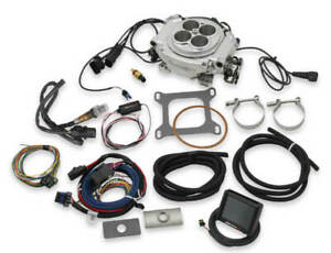 Holley Sniper 550 510 Efi Self Tuning Fuel Injection Base Kit Shiny In Stock