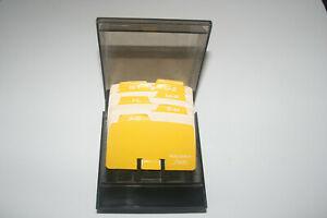 Vintage Rolodex S300c Covered Business Card File 3 3 4x2 Alphabet Cards