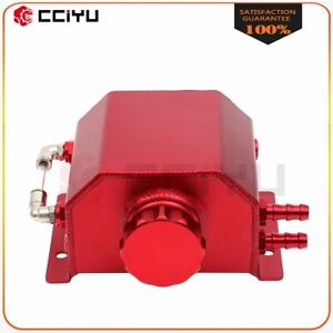 Red Aluminum Radiator Coolant Overflow Bottle Recovery Water Tank 1l Universal