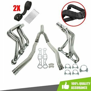 For Camaro Firebird 82 92 5 0l 5 7l Exhaust Manifold Long Tube Headers Y Pipe