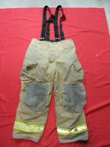44 X 28 Cairns Reaxtion Firefighter Pants W Suspenders Bunker Turnout Fire Gear