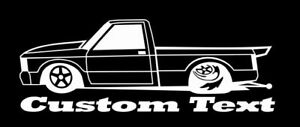 Chevy Chevrolet S10 Pickup Pro Street Drag Racing Decal V8 Turbo Boost