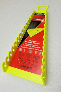 New Year 2021 Snap on Reverse Vinyl Yellow High Viz Wrench Racks 15 Positions