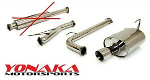 Yonaka 2003 2005 Honda Accord Stainless Steel Catback Exhaust 4cyl 4dr Open Box