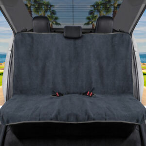 Waterproof Towel Car Seat Cover Rear Bench Cover With Gray Trim