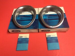 Nos Ford Mustang Gt Exhaust Trim Rings 1965 66 C5zz 5c299 A