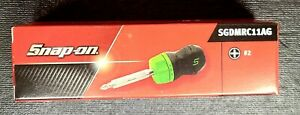 New Snap On Ratcheting Stubby Soft Grip Screwdriver Sgdmrc11ag