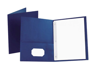 Oxford Twin pocket Folder With Fasteners Letter Blue 25 count free Shipping