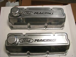 351c 351m 400m Ford Racing Polished Valvecovers With Breathers