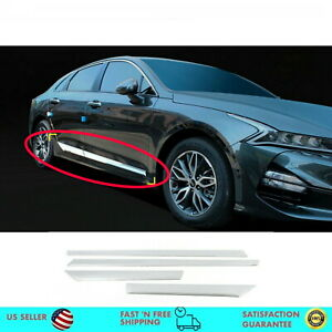 Chrome Side Skirt Garnish Molding Trim Side Line For Kia Optima 2021