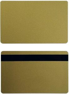 Gold Pvc 3 Track Hico Mag Cards Cr80 30 Mil Magnetic Stripe Pack Of 50