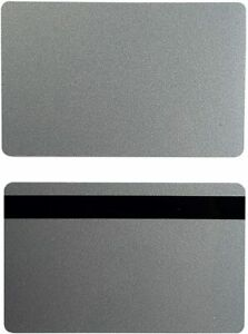 Silver Pvc 3 Track Hico Mag Cards Cr80 30 Mil Magnetic Stripe Pack Of 50