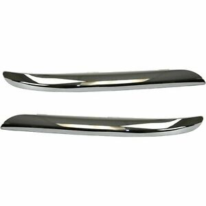 2pcs Chrome Front Bumper Trim Set For Chrysler 300 Accent 2011 2013 2014 Lh Rh