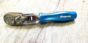 Snap on 3 8 Drive Stubby Hand Ratchet Pearl Blue Hard Handle Fhkfd80a New