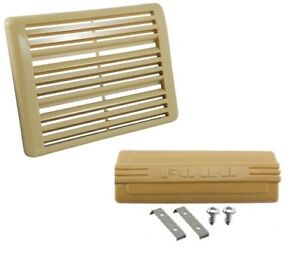 1948 1949 1950 Ford Pickup Truck Radio Hole And Speaker Grille Covers Beige