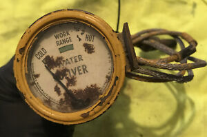Vintage Oliver Tractor Water Temperature Gauge Works tested Rusty Steampunk
