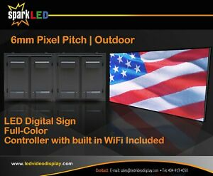 P6 Led Digital Sign 3x6 Screen High quality Full color Outdoor High Resolution