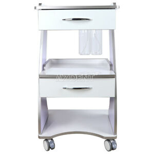 Dental Mobile Metal Built in Socket Tool Cart Trolley With Bottle Supply System