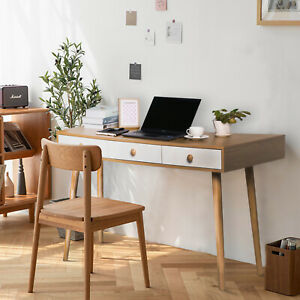 Computer Desk Laptop Table Study Writing Workstation Home Office W drawer Pc
