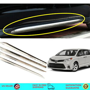 Chrome Side Skirt Garnish Molding Trim Side Line For Toyota Sienna 2011 2020