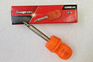 New Snap On Ratcheting Stubby Orange Hard Handle Screwdriver Magnet Bit Ssdmr1ao