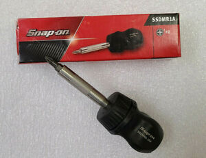 New Snap On Ratcheting Stubby Black Hard Handle Screwdriver Magnet Bit Ssdmr1a