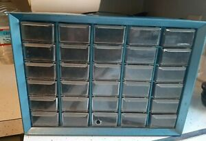Vintage 30 Drawer Metal Akro mils Small Parts Storage Organizer Cabinet Bin