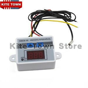 Us 220v Digital Led Temperature Controller 10a Thermostat Control Switch Probe