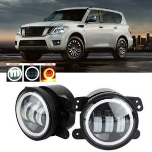 Led For Nissan Armada 08 15 Clear Lens Pair Bumper Fog Light Lamp Oe Replacement
