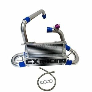 Cx Fmic Alum Double Core Intercooler Kit For 07 09 Mazdaspeed3 1st Gen Blue