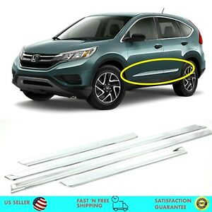 Chrome Side Skirt Garnish Molding Trim Side Line For Honda Crv 2012 2016